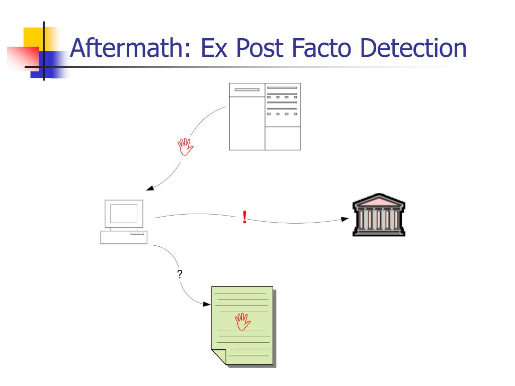 Aftermath: Ex Post Facto Detection