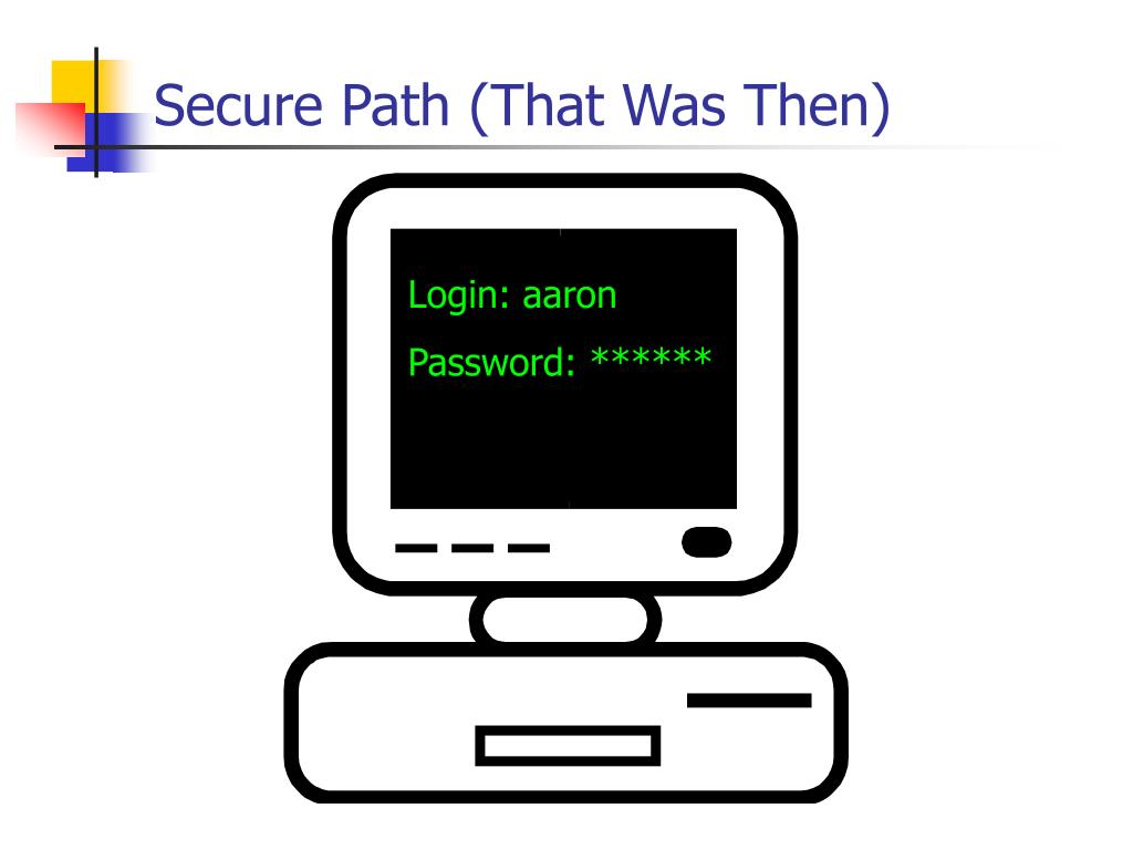Secure Path (That Was Then)