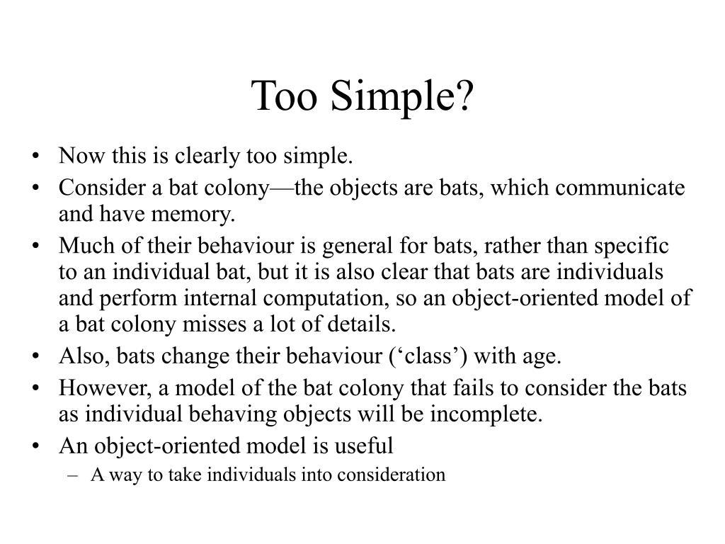 Too Simple?