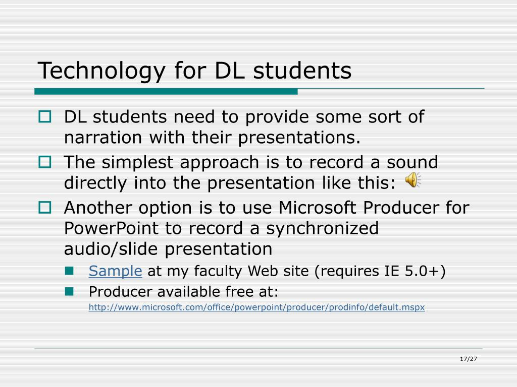 Technology for DL students