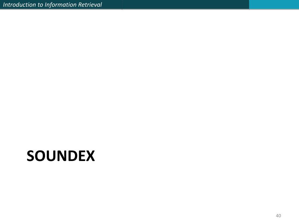 Soundex
