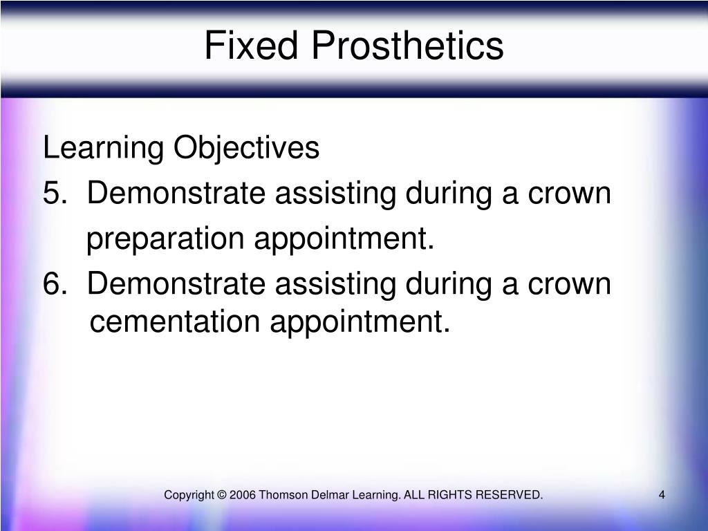 Fixed Prosthetics