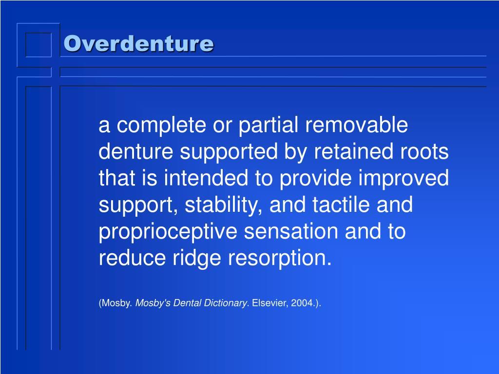 overdenture