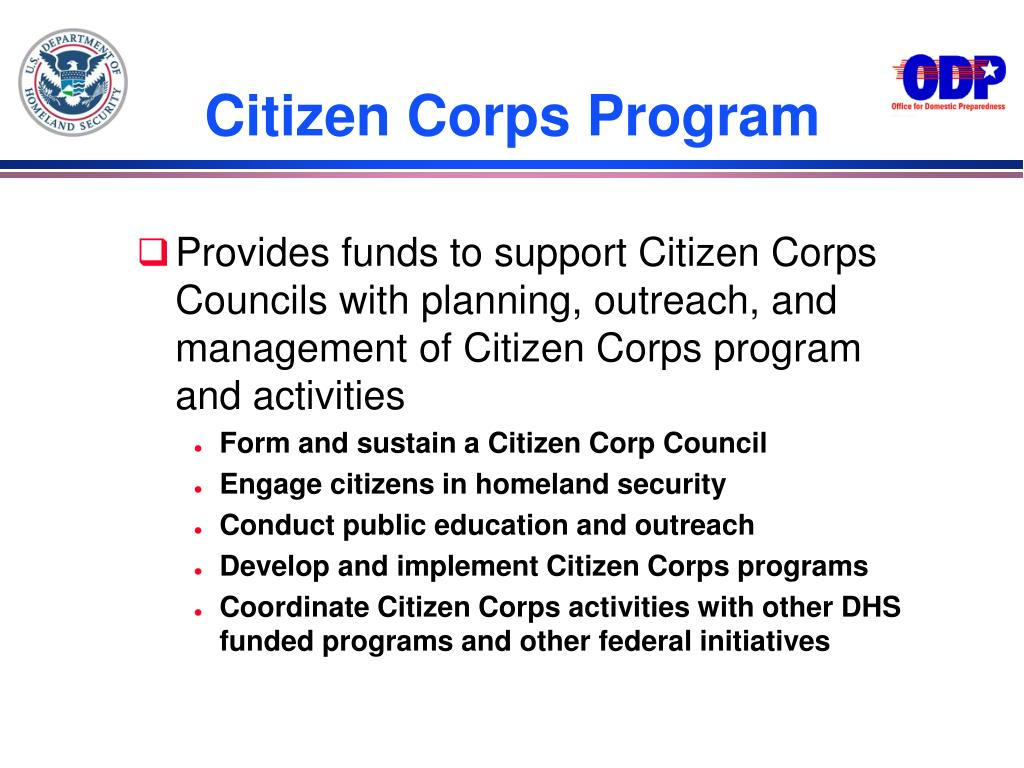 Citizen Corps Program
