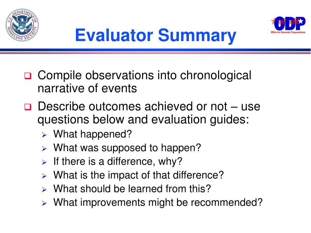 Evaluator Summary