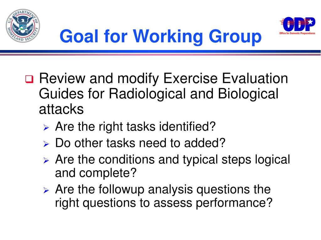 Goal for Working Group