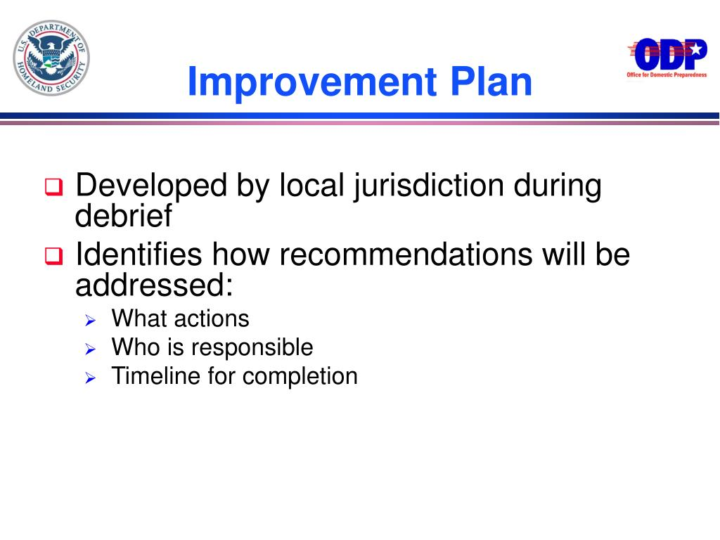 Improvement Plan