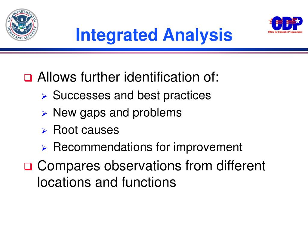 Integrated Analysis