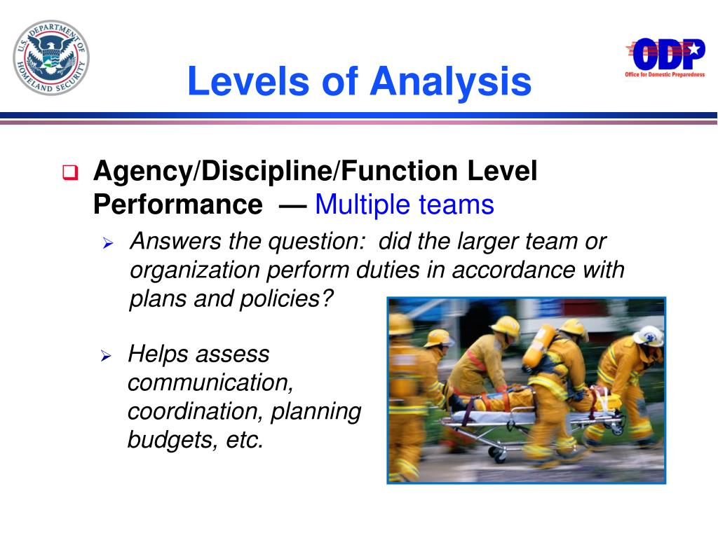 Agency/Discipline/Function Level Performance  —