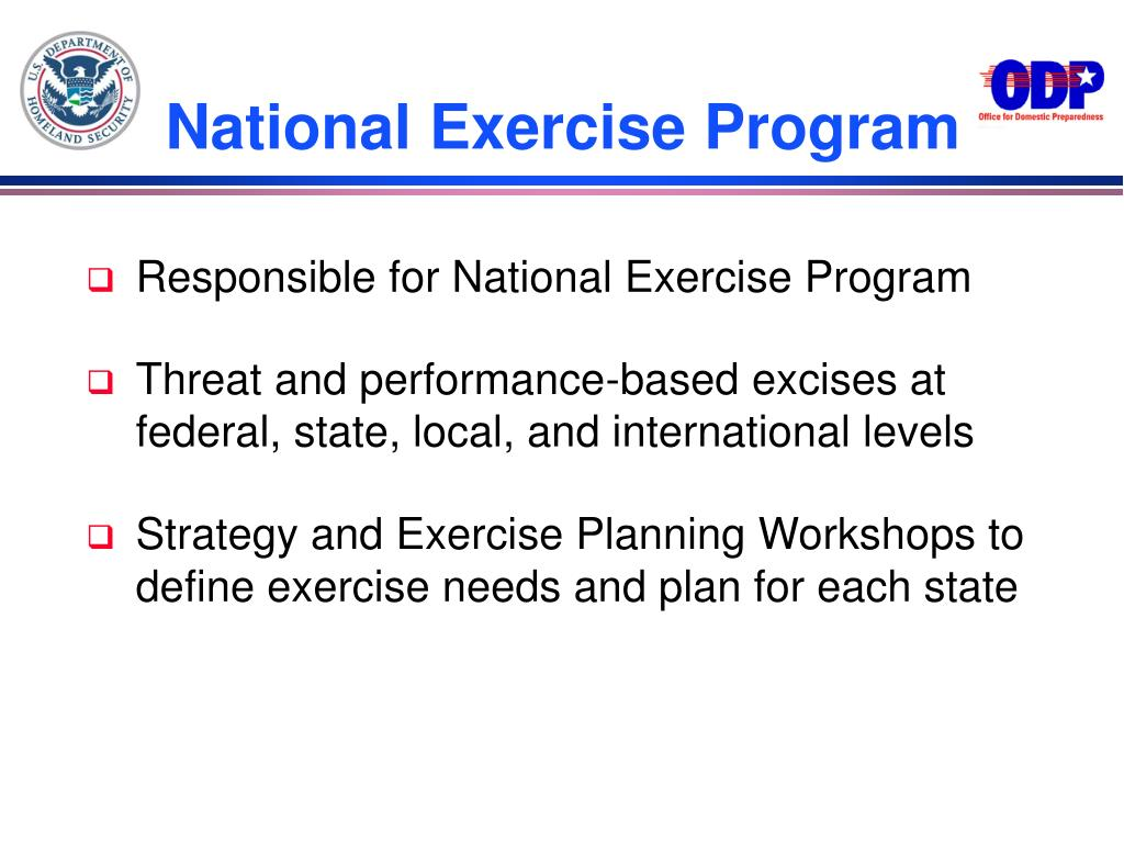 National Exercise Program