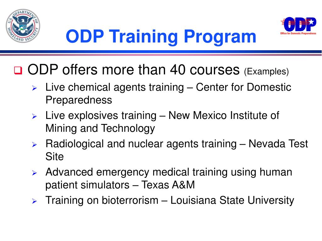 ODP Training Program