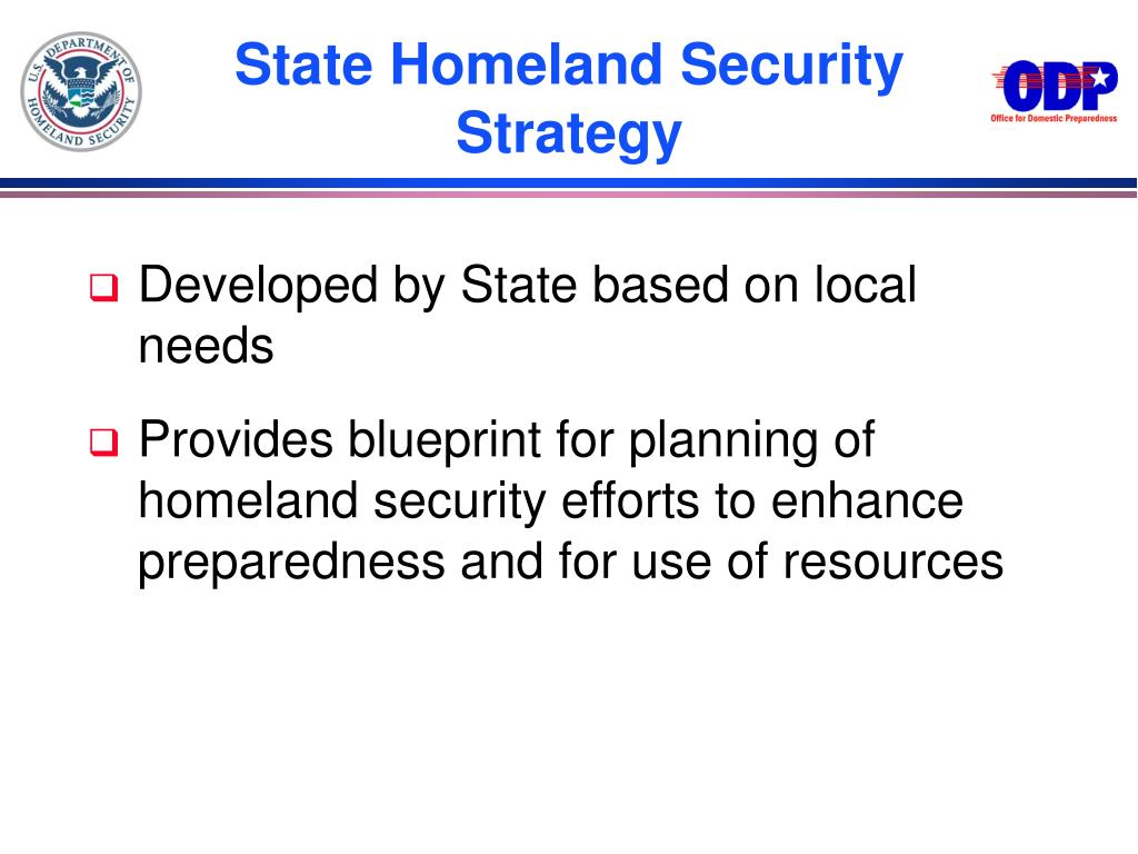 State Homeland Security