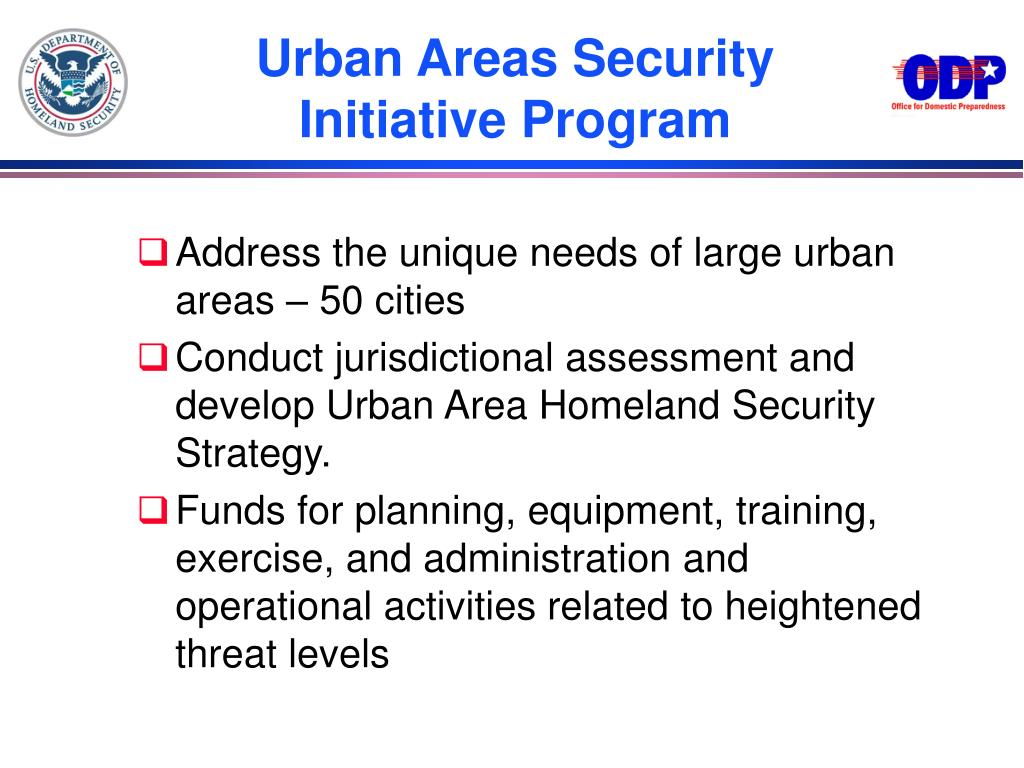 Urban Areas Security