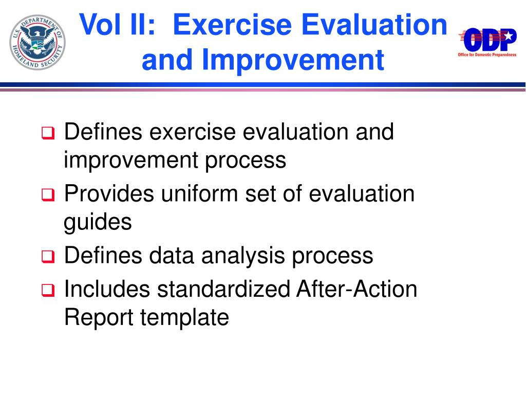 Vol II:  Exercise Evaluation