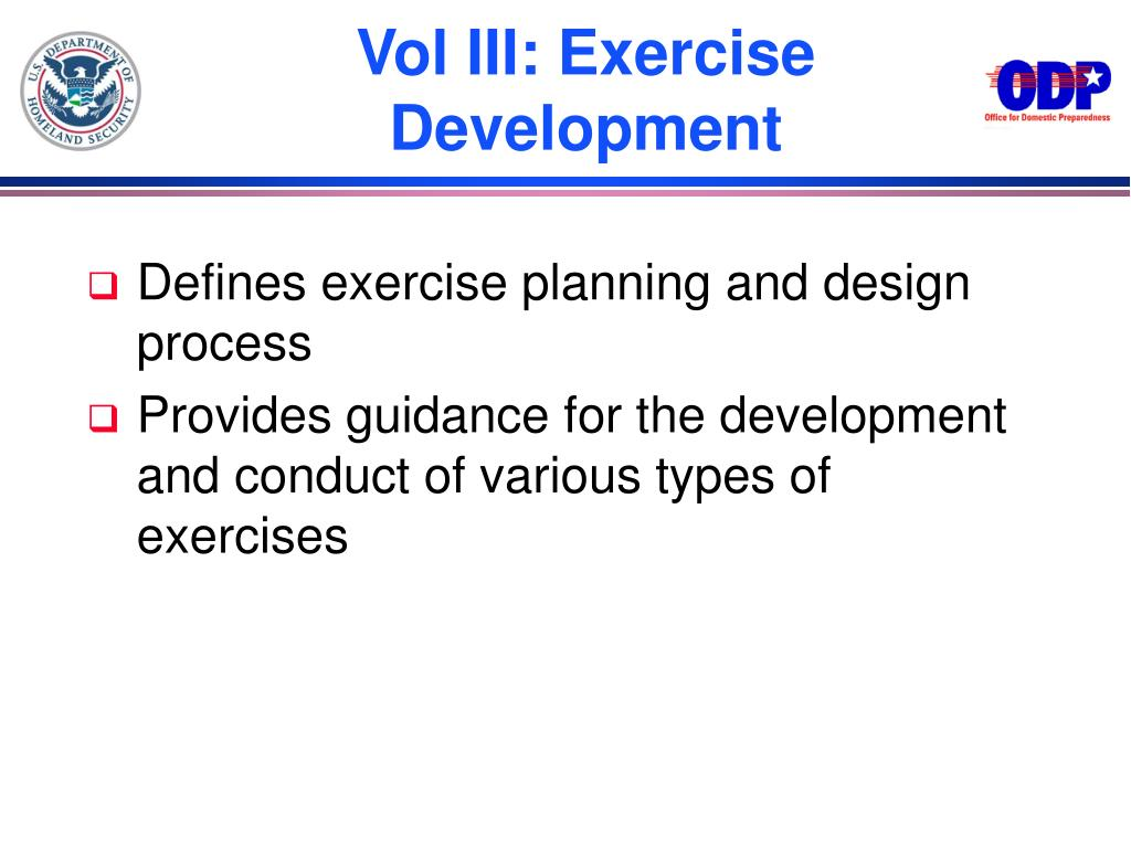 Vol III: Exercise