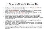 1 sp rsm l fra 3 klasse bv