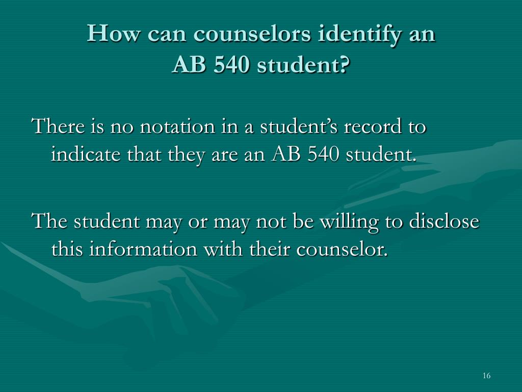 How can counselors identify an