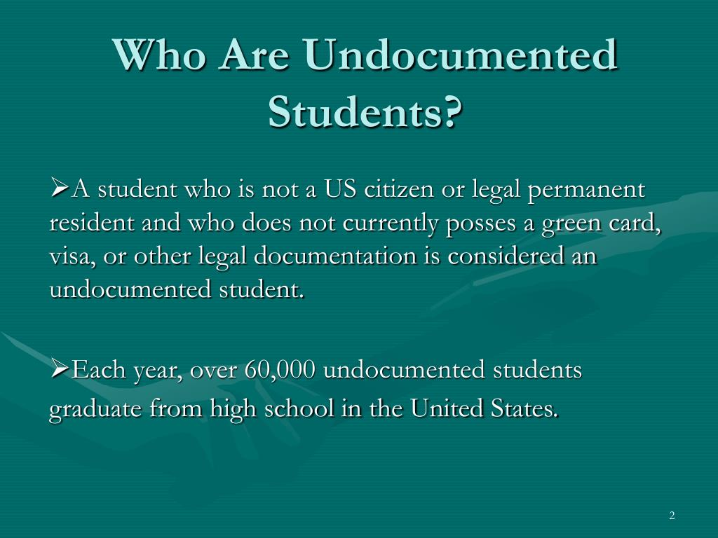 Who Are Undocumented Students?
