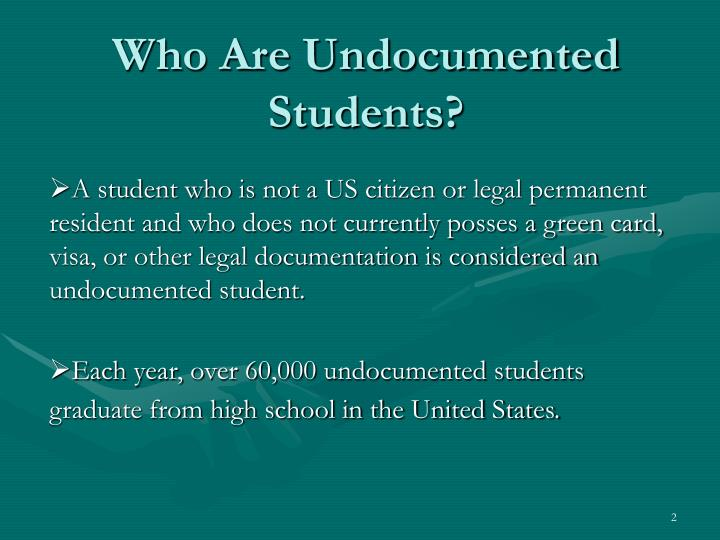 Who are undocumented students