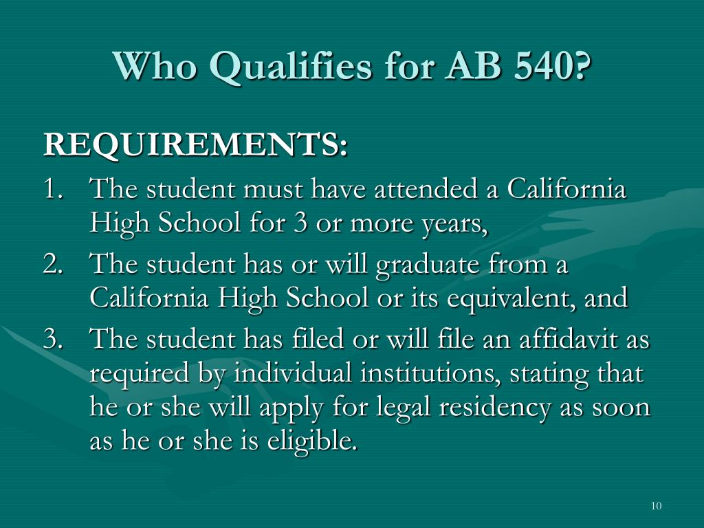 Who Qualifies for AB 540?