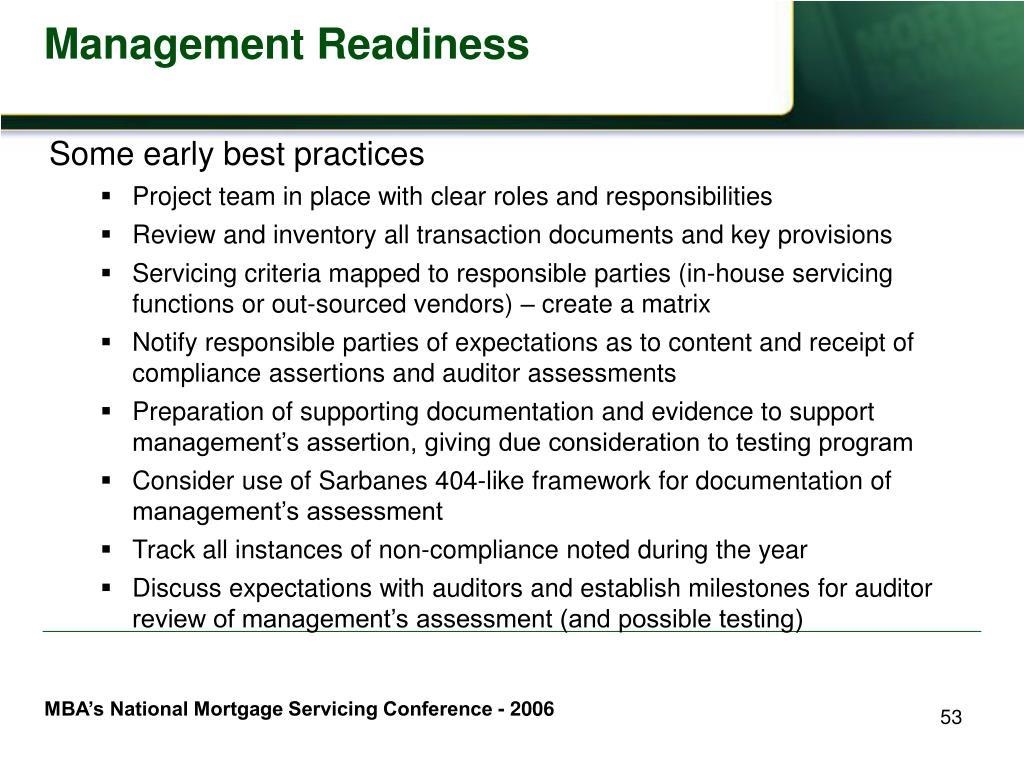 Management Readiness