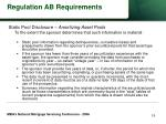 regulation ab requirements19