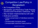 competition law policy in bangladesh