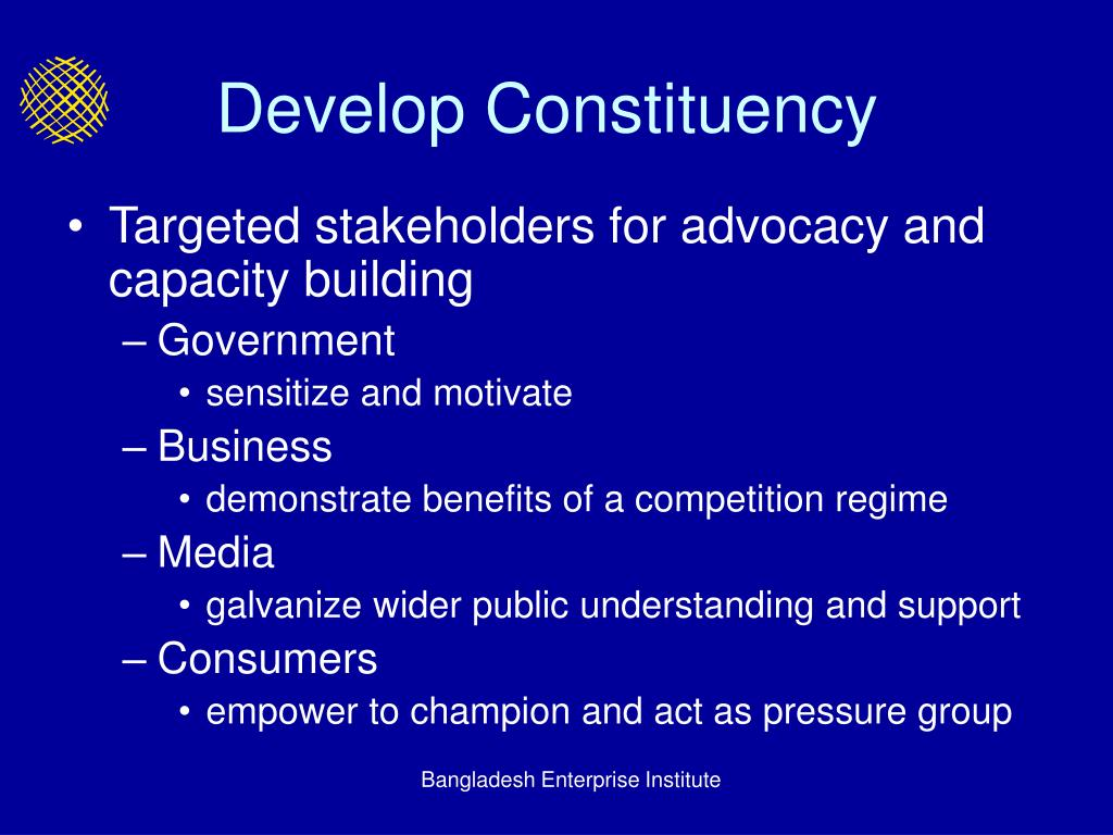 Develop Constituency