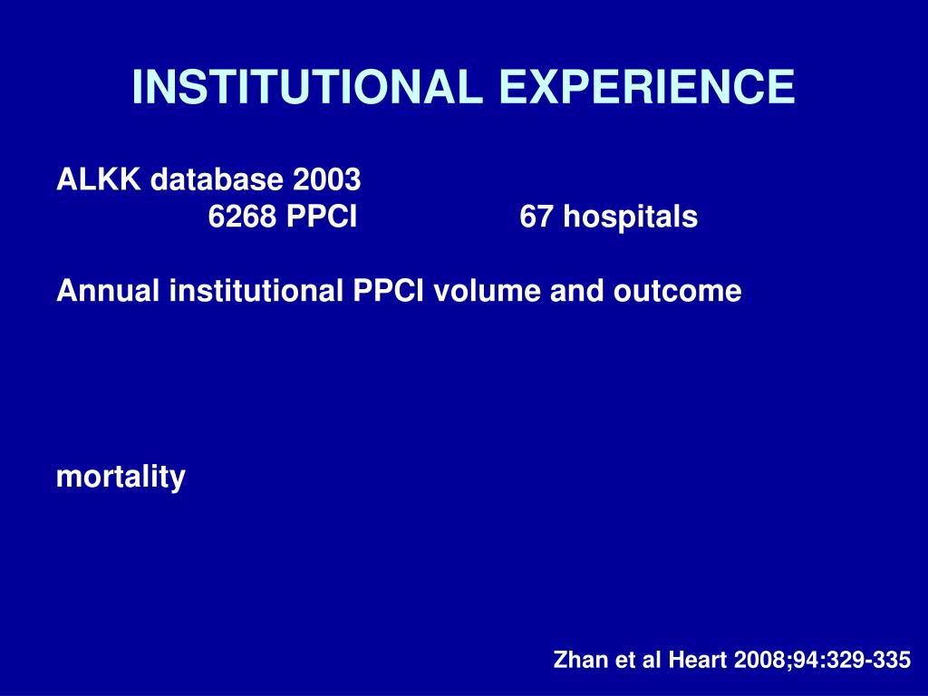 INSTITUTIONAL EXPERIENCE