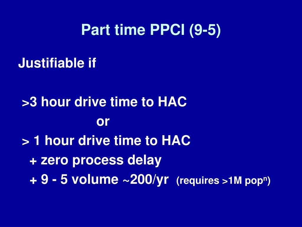 Part time PPCI (9-5)