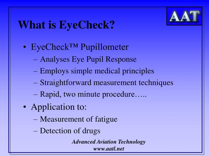 What is eyecheck l.jpg