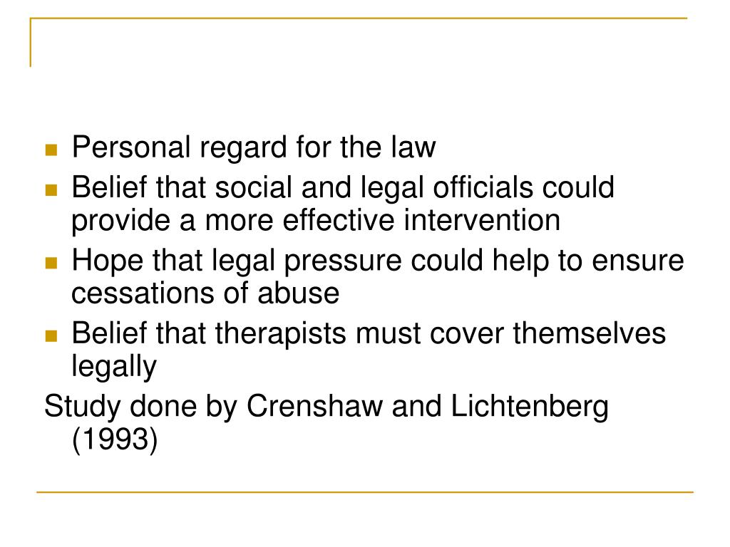 Personal regard for the law
