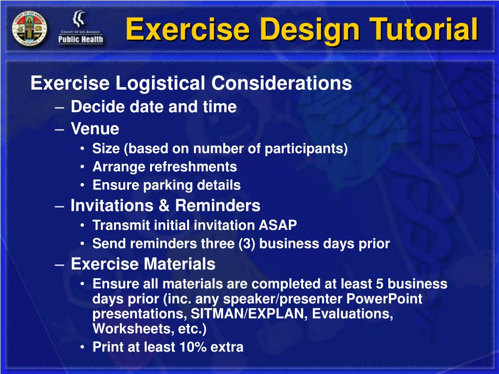 Exercise Design Tutorial