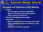 exercise design tutorial5