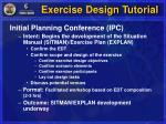 exercise design tutorial7