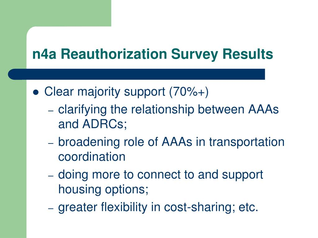 n4a Reauthorization Survey Results