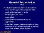 neonatal resuscitation ethics54