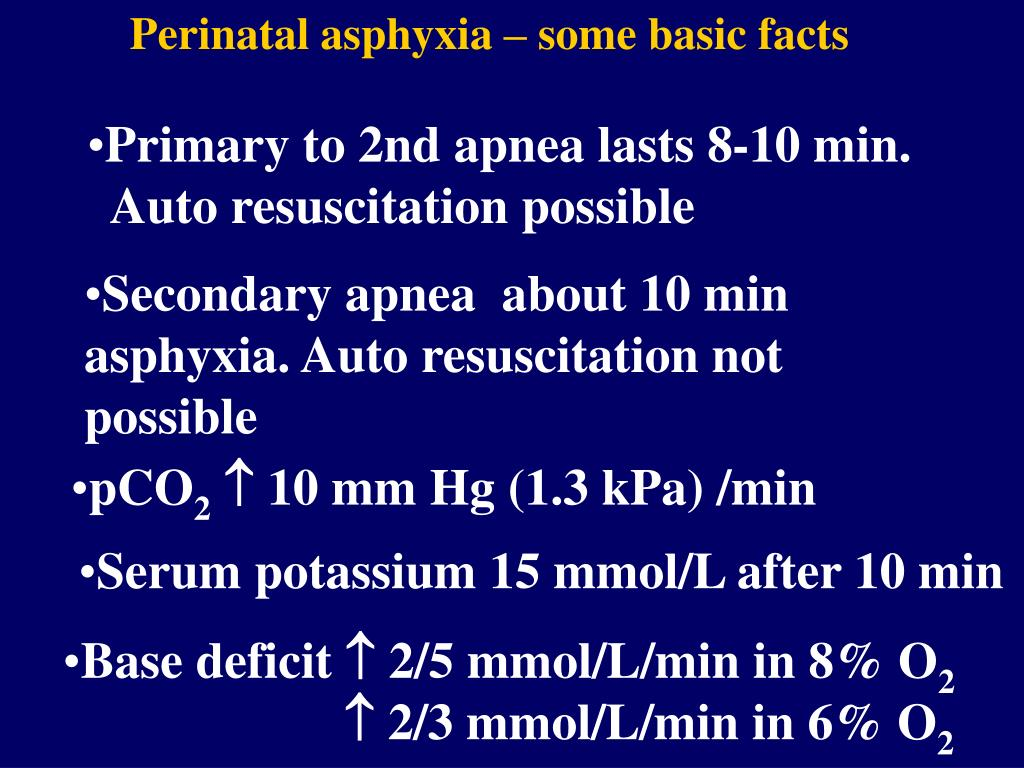 Perinatal asphyxia – some basic facts