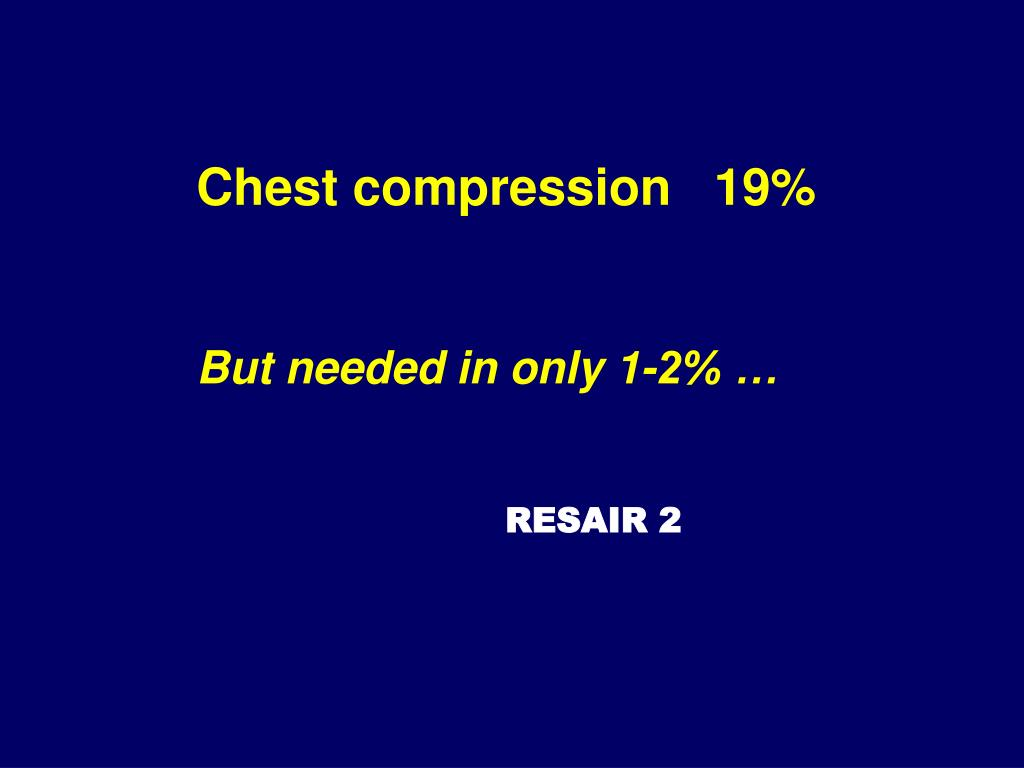 Chest compression   19%