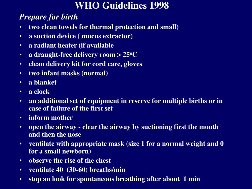 WHO Guidelines 1998