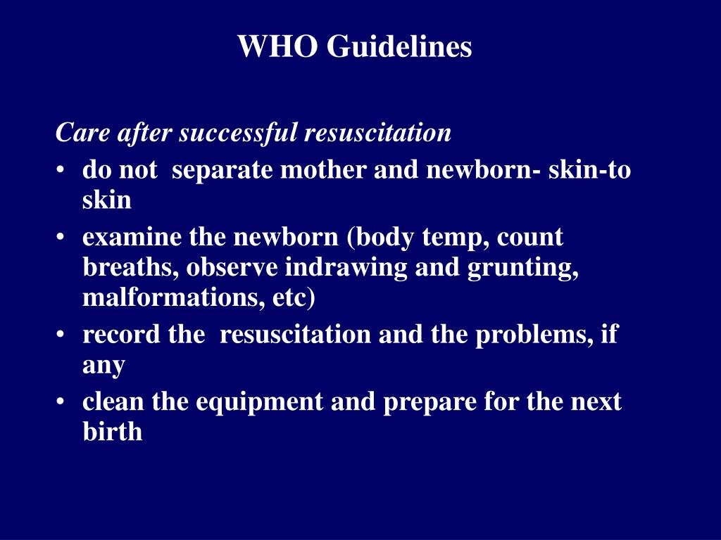 WHO Guidelines