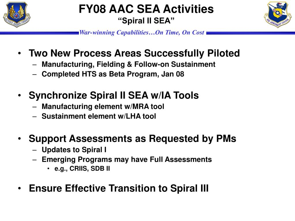 FY08 AAC SEA Activities