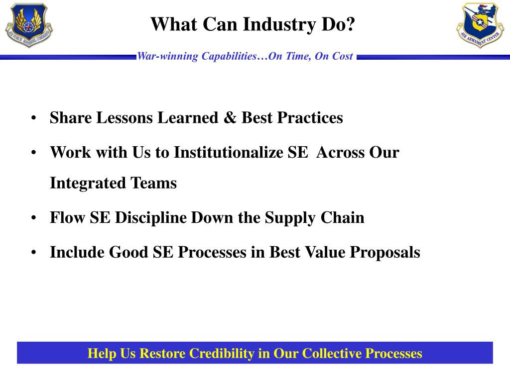 Share Lessons Learned & Best Practices
