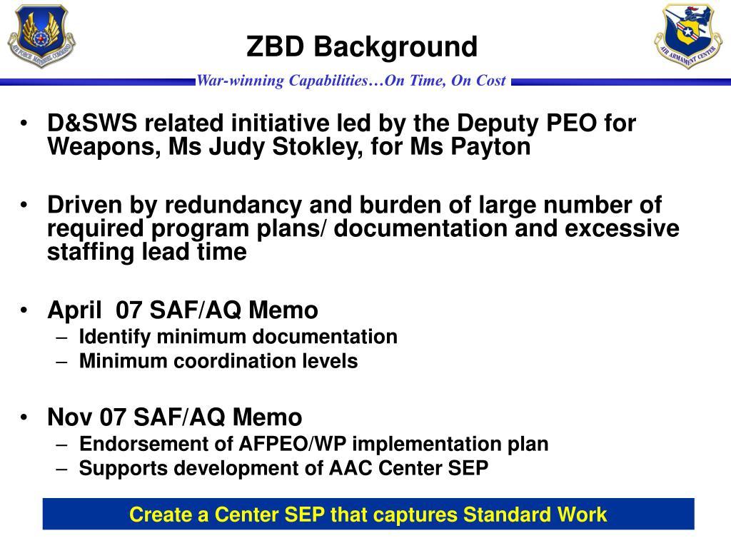 ZBD Background