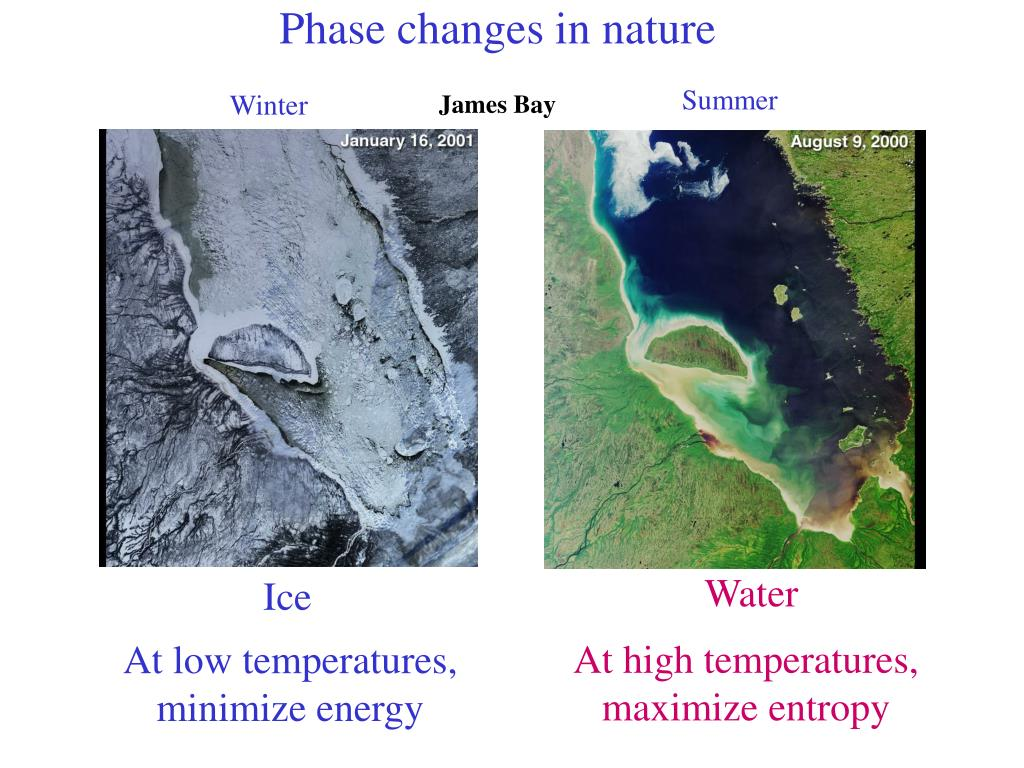 Phase changes in nature