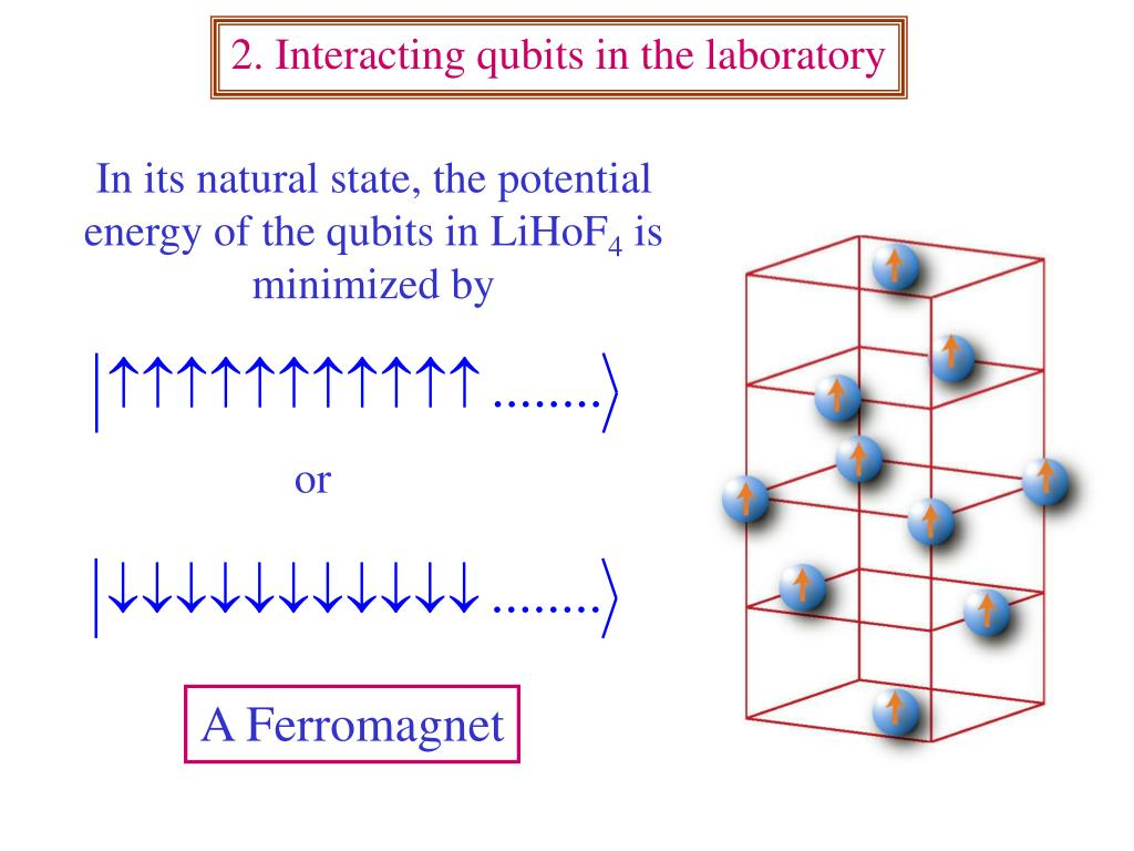 2. Interacting qubits in the laboratory