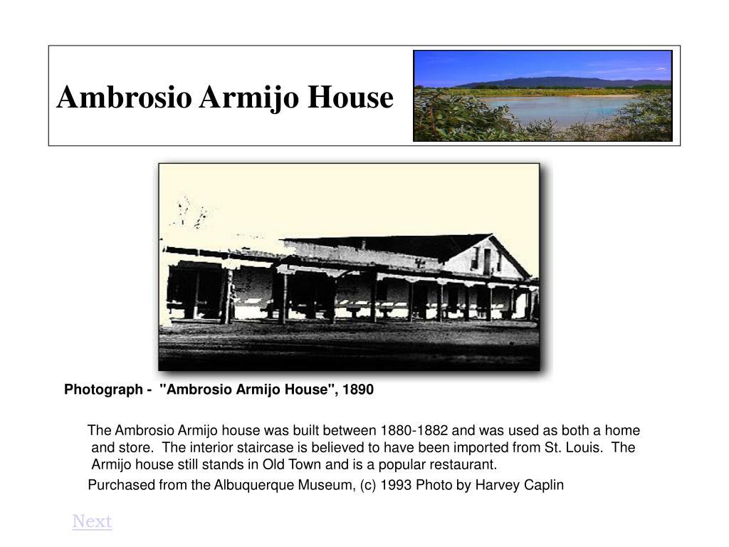 Ambrosio Armijo House