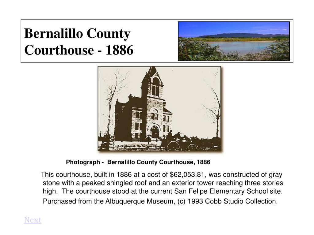 Bernalillo County Courthouse - 1886