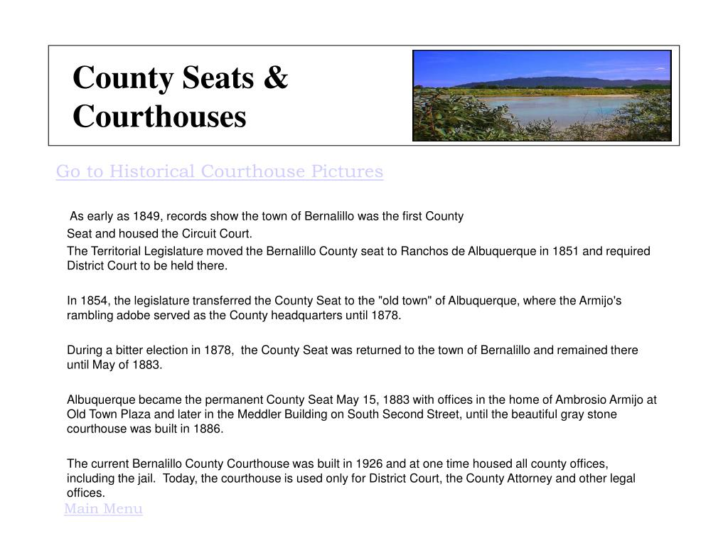 County Seats & Courthouses