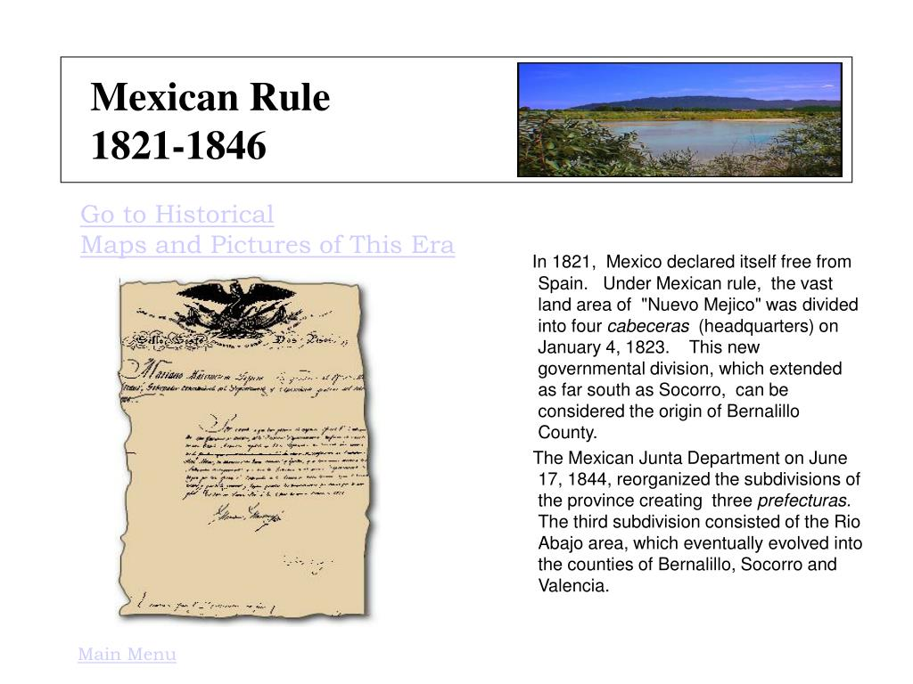 Mexican Rule